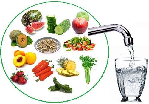 La mejor agua que podemos beber es la que contienen frutas y verduras: